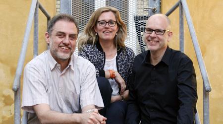 Nicolai Okkels, Tina Ravbjerg og Peter Donner er tilsammen Triagonal Informationsdesign